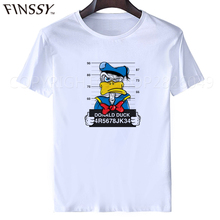 2017 Newest Fashion Top Quality Donald Duck T-Shirt Men Animals Fox Hip Hop Funny Anime T Shirt Fashion Top Tee