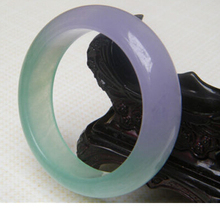free shipping ~$wholesale_jewelry_wig$ NEW 100% NATURAL BEAUTIFUL GREEN  LAVENDER BANGLE  BRACELET 59MM