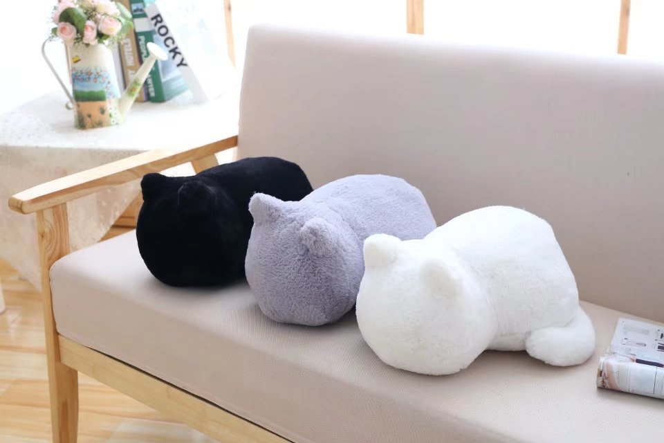 1pcs Cute Soft Cat Stuffed Pillow Lovely Kawaii Animal Plush Shadow Cat Plush Toy For Kids Gift Home Decoration (3)