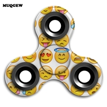 Buy 2017 Emoji Fidget Spinner Tri Finger ABS EDC Hand Spinner Autism ADHD Anxiety Stress Relief Focus Handspinner Kids Toy Gift for $2.02 in AliExpress store