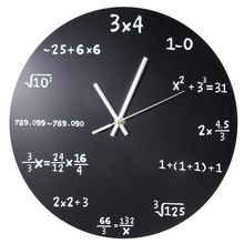 Large Creative Wall Clock Mathematics Blackboard Pop Quiz Clock Modern Design Big Wall Watches For Living Room Wall Home Decor(China)