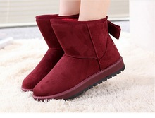 Free shipping 2016 NEW fashion fur inside women Winter Snow Boots butterfly section High Increased women red Boots Shoes 35-40