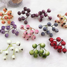 2pcs Fake Fruit Small Berries Artificial Flower Multicolor Cherry Stamen Pearlized Wedding Christmas Decorative(China)