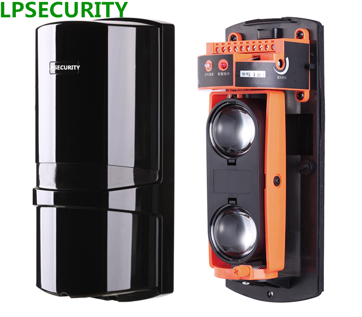 LPSECURITY Outdoor waterproof active infrared beam detector alean beam sensors beam barriers 40 60 80 100m for gsm alarm system<br>