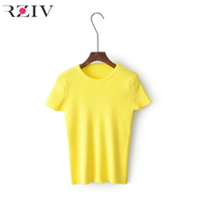 Buy RZIV 2017 summer tops casual slim womens clothing knitted sweater women short sleeve women sweaters pullovers for $14.56 in AliExpress store