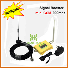 Mini Intelligent GSM980 Cell Phone Signal Booster 2G GSM 900mhz Signal Repeater GSM Booster with Omni Antenna / Sucker Antenna