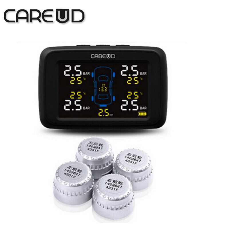 Car TPMS with 4 external sensors PSI/BAR careud tpms tire pressure monitoring system diagnostic tool tires pressure<br><br>Aliexpress