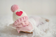 Roupa para foto de recem nascido newborn baby heart decoration special design 2 types handmade crochet quality  hat photo props