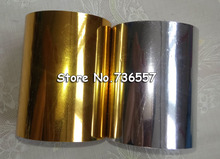 2 Rolls(gold and slilver) Hot Foil Stamping Paper Heat Transfer Anodized Gilded Paper 6cm / 8cm with Shipping Cost Fee