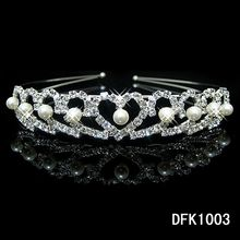 New Shiny Crystal Rhinestone Pearl Headband Wedding Bridal Silver Hairwear Party Girls Tiara Flower Hair bands Hair Accessories