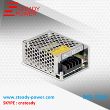mini size CE approved MS-35w transformer 110v 220v ac to 5v 12v 24v dc, variable power supply manufacture