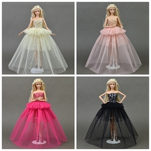 Doll Clothes For Barbie Princess Wedding Dress Noble Party Gown For Barbie Doll Fashion Design Outfit Best Gift For Girl' Doll(China)