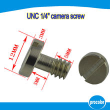"10pcs stainless steel 1/4"" UNC camera screw for tripod ball head quick release plate"