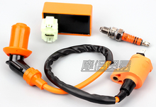 Hot Sale Motorcycle Performance CDI+ Ignition Coil + Spark Plug Fit Gy6 50cc 125cc 150cc New Dropping Shipping(China)