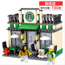 Mini Street Scene Retail Store Shop Architecture With Building Blocks Sets Model Figures Toys