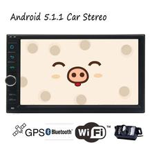 Android 5.1 Lollipop Double 2 Din Car Stereo Quad Core Car Stereo for GPS Navigation FM Radio Steering Wheel Wifi Backup Camera