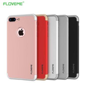 FLOVEME PC Dur Hybride Case Pour iPhone 7 Couverture Pour iPhone 7 Plus Armure Case Anti Frapper Galvanoplastie De Protection Téléphone Mince Neo