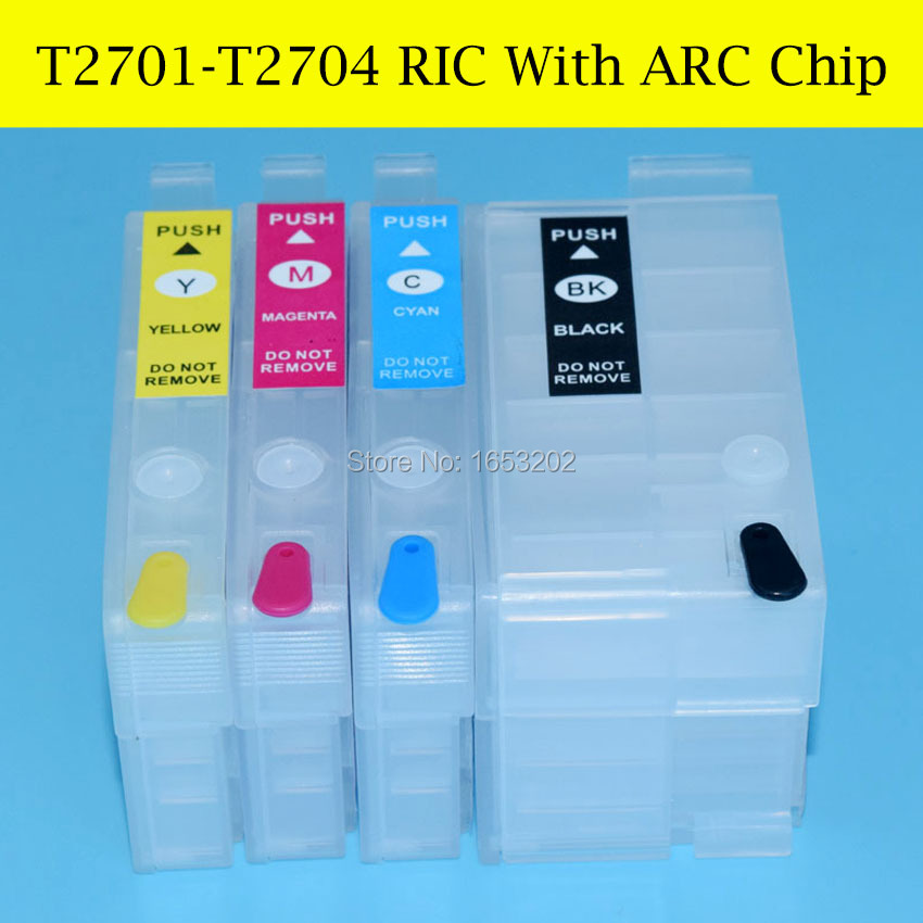 4 Piecess/Lot For Epson Printer wf-7620 7110 wf-3620 wf-3640 With Refill Ink cartridge For epson T2701-T2704/270<br><br>Aliexpress