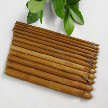 Best Sale 12 Sizes Bamboo Knitting Needles Handle Crochet Hook Knit Weave Yarn Crafts Home DIY Brand Knitting Tools(China)