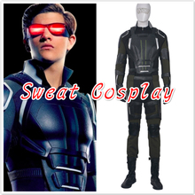 High Quality X-Men Apocalypse Cyclops Costume adult Halloween superhero costumes for men Beast Cyclops Cosplay Costume(China)