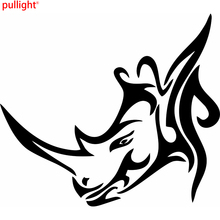 Rhinoceros Rhino Head Fire Auto Car Bumper Window Vinyl Decal Sticker Decals