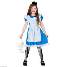 High Quality Girl Dresses Princess Children Clothing Alice In Wonderland Cosplay Costume Fancy Party Dress Girls dress kid 3-12Y