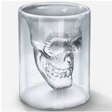 200Ml Thick Double Glass Crystal Skull Head Vodka Whiskey Shot Glass Cup Drinking Ware For Bar Wine Cup  GI676370