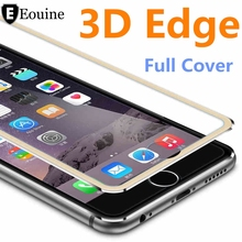 3D Aluminum alloy Tempered Glass Case Coque for iphone 6 6s / 7 Plus Full   Film Fundas For 5 5s se 5C Case Red