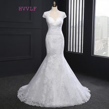 New Hot 2017 Vintage Wedding Dresses Mermaid Cap Sleeves Appliques Lace Wedding Gown Bridal Dresses Bridal Gown Real Photos