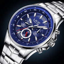 Relogio Masculino LIGE Watch Mens Watches Top Brand Luxury Business Stainless Steel Quartz Watch Men Sport Waterproof Wristwatch