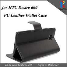 For HTC Desire 600 Black PU leather protective Wallet case,for HTC Desire 600 white PU Leather Stand Case Cover