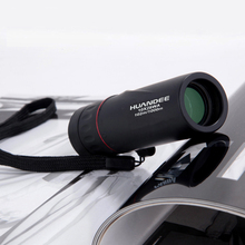 hot selling 10X25 HD Monocular Telescope binoculars Zooming Focus Green Film Binoculo Optical Hunting High Quality Tourism Scope(China)