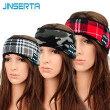 JINSERTA Wireless Bluetooth Music Sports Headband Headphones Sleeping Eye Mask Stereo Hands-free Running Earphones with Mic