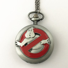 FANTASY UNIVERSE Freeshipping 1pc a lot Ghostbusters pocket watch Necklace Dia47mm HYT43