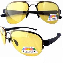 P11001-1 High Definition Yellow Polarized HD Night Driving Sun Glasses