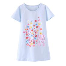Summer Girls Nightgowns Cotton Fabric Girls Sleepwear For 4-10 Years Baby Pajamas Kids Home Clothing robe de nuit enfant fille