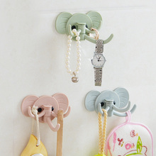 Cute Elephant Wall Handing Holder Storage Rack For Keys/Bags/Umbrella Home Hander Storage Hook Organizer Rack Free Shipping 212(China)