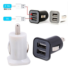 Universal Dual USB Phone Charger Fast Charging for Mobile Phone Tablet DC5V 3.1A USB Power Adapter for iPad Samsung Car Charger