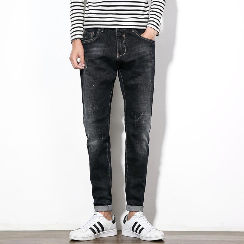 Men Jeans Fashion Winter New Black Jeans Men Plus Size Straight Denim Men Casual Pant Mid Waist Quality Cotton Trousers Male HotОдежда и ак�е��уары<br><br><br>Aliexpress