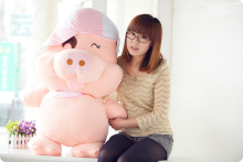 45cm McDull pig doll plush pig plush teddy bear large lovely doll the married birthday present female