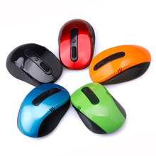 Wireless 2.4GHz Optical Mouse USB 2.0 Optical Wireless Mouse USB Receiver Mice For Windows Linux Win 7 MAC Computer Accessoroes