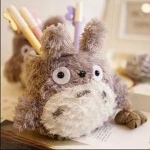 New Cartoon Totoro Plush Pencil Vase Lovely Anime Totoro Plush Toy Brush Pot Creative Gift for Kids Free Shipping(China)