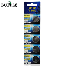5pcs/Pack Buffle New Lithium Li-ion 40mAh 3.6V Rechargeable LIR2032 Button Cell Batteries Coin Battery Replace for CR2032