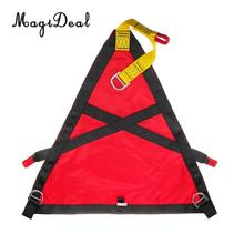 MagiDeal 1Pc Polyester Rock Climbing Rescue Belt Triangle Evacuation Harness Evacuate Patient for Chair Lift Gondola Application(China)