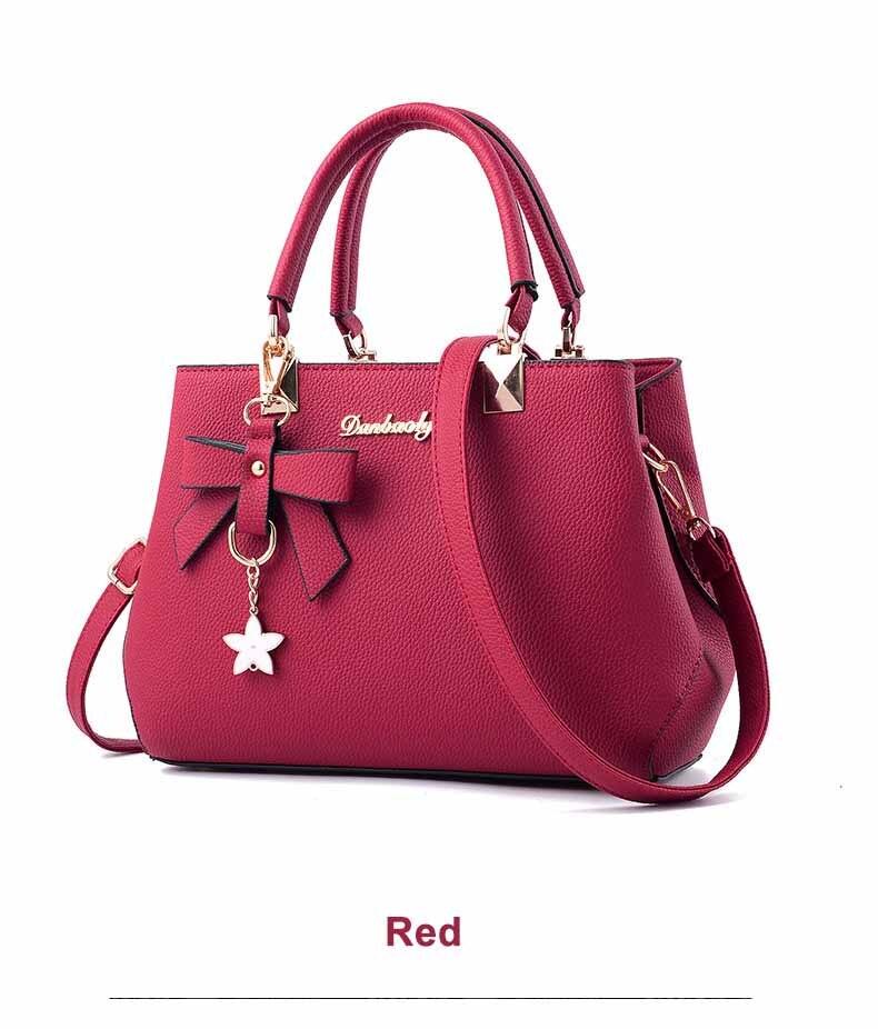 WENYUJH New 18 Elegant Shoulder Bag Women Designer Luxury Handbags Women Bags Plum Bow Sweet Messenger Crossbody Bag for Women 21