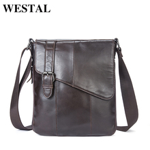 WESTAL Genuine Leather Men Bags Fashion Male Messenger Bag Men's Small Briefcase Man Casual Crossbody Bag Shoulder Handbag 8240