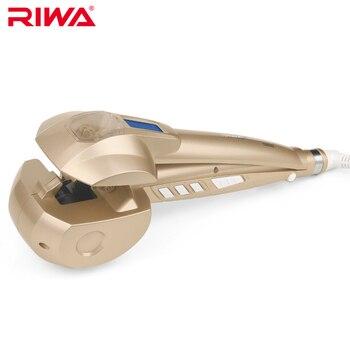Riwa автоматическая волос curl жк pro волосы бигуди styler отопление укладки волос инструменты магические волосы бигуди жезл вьющееся железо rb-200gj