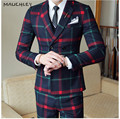 HTB1XRLVmxHI8KJjy1zbq6yxdpXaO.jpg 120x120 - MAUCHLEY Prom Mens Suit With Pants Burgundy Floral Jacquard Wedding Suits for Men Slim Fit 3 Pieces / Set (Jacket+Vest+Pants)