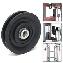 MAYITR High Quality Bearing Pulley 90mm Wearproof Nylon Bearing Pulley Wheel Cable Gym Universal Fitness Equipment Part(China)