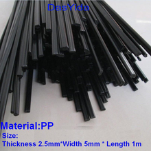 Free shipping 40 PCS black PP Plastic welding rods/PP welder rods for plastic welder gun/hot air gun/welding tool 1pc=1meter(China)